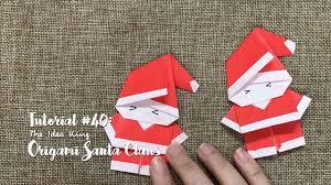 How To Make A Origami Santa - how to make diy origami santa claus the idea king tutorial 40