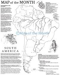 World Map Of Continents And Oceans To Label by South America Map Maps For The Classroom