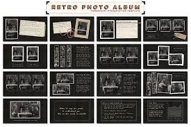 vintage photo album retro photo album ppt template presentation templates creative