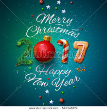 merry christmas happy new year 2017 stock vector 522546274