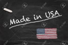Flags Made In Usa High Resolution Image With Chalk Lettering Made In Usa And Painted