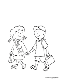 caillou clementine coloring coloring pages