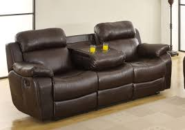 Brown Leather Recliner Sofa Homelegance Marille Reclining Sofa Set Dark Brown Bonded