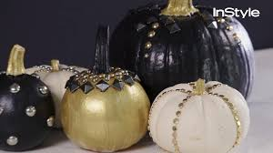 Instyle Home Decor How To Create Your Own Studded Pumpkins Instyle Com