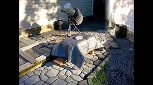 Paver Mold Kit by Diy Massive Concrete Cobblestone Patio Youtube