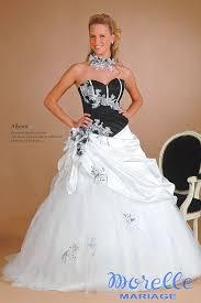 robe de mari e noir et blanc robe de mariée morelle mariage lille vente en ligne