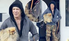 Mickey Rourke News Newslocker - mickey rourke indulges love of fashion with matching louis vuitton