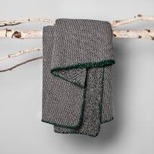 woven throw blanket black hearth with magnolia target