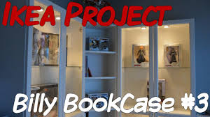 bookcases corner units ikea project billy bookcase part 3 youtube