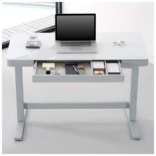 Recessed Computer Desk Stylish White Computer Desk Inside U Office Glass And Gloss