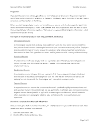 resume chronological order targeted resume template targeted resume examples