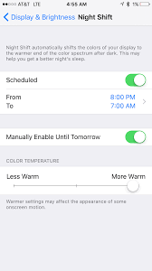md tech tip tell patients to use night shift mode on iphone for