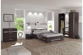 le de chevet chambre chambre complète chêne foncé lit 140x190 2xtable de chevet 1