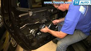 how to install replace rear power window regulator 2002 09 gmc