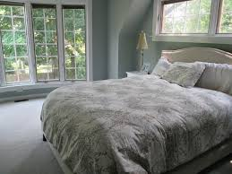Gray Master Bedroom by Bedroom Dazzling Floor To Ceiling Bay Window Design For Grey