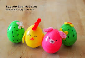 pink easter eggs make easter egg weebles pink stripey socks
