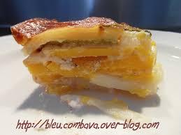 cuisiner une courge butternut gratin pommes de terre courge butternut et courgettes à la