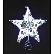 lighted tree topper 15 led lighted battery operated mirrored christmas tree