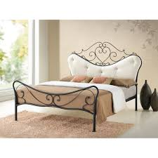 Shabby Chic Metal Bed Frame by Baxton Studio Alanna Queen Size Shabby Chic Metal Platform Bed
