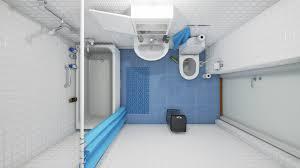 mid century modern bathroom vanity reptil club room divider blue