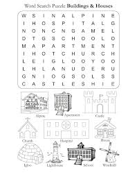 free house search word search puzzle houses and buildings download free word search