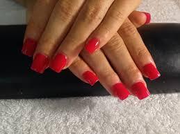 plain red acrylic nails nails pinterest red acrylic nails
