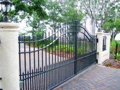 Decorative Concrete Pillars Estate Gate With Decorative Concrete Columns We Built In Florida
