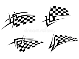 tribal tattoo with racing flag stock photo image 31654640