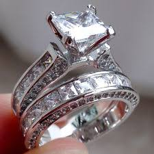 wedding band sets for sterling silver wedding ring sets ebay
