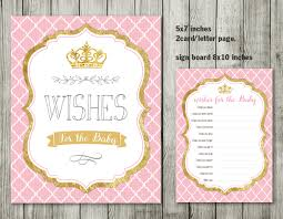 crown princess wishes for baby pink and gold princess baby shower
