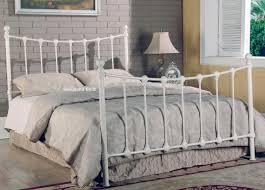 tivoli ivory metal bed frame with shells 5ft kingsize