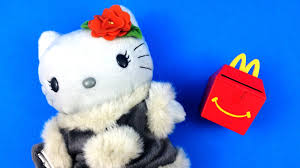 winter hello kitty colorful seasons toy 4 mcdonald u0027s full set of