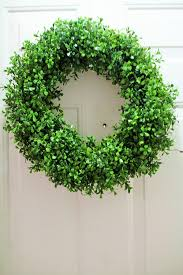 spring wreaths for front door amazon com 18 inch faux boxwood wreath spring wreath