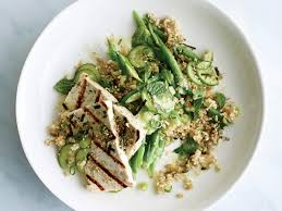 lime freekeh with grilled tofu and miso lime dressing recipe kristin