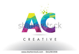 ae d colorful letter design creative stock vector 641283247