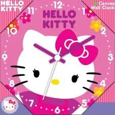 kitty wall clock foter
