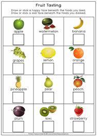 fruit tasting worksheet pdf art ideas pinterest worksheets