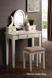 Mission Style Vanities Classic White Mission Style Wooden Vanity Table Set