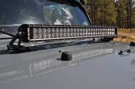 30 inch led light bar kc hilites jk jeep hood light mount jeep led light bar