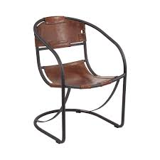 A Modern Industrial Take On The Iconic Leather Lounge Chair The - Leather accent chairs for living room
