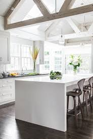 Designer White Kitchens by Best 25 Waterfall Countertop Ideas On Pinterest Marble Kitchen