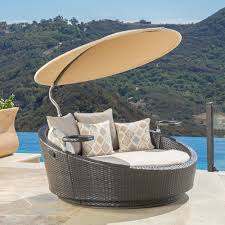 outdoor wicker patio furniture round canopy bed daybed