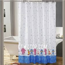 white and blue colored kids elephant cool shower curtains