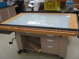 Light Drafting Table Drafting Light Table Item 1 Throughout Drafting Table With