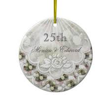 25th wedding anniversary christmas ornament 22 best 25th anniversary ideas images on anniversary