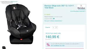 Siege Auto Renolux - siège auto bébé renolux 360 ballades siege auto