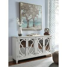 door accent cabinet in gray finish with mirror doors by signature