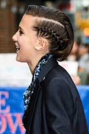 millie bobby brown u0027s side braid at u0027the late show with steven