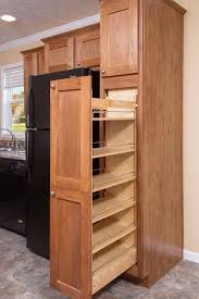 hard maple wood red glass panel door kitchen cabinet storage
