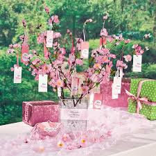 create a lovely table centerpiece to complete your cherry blossom